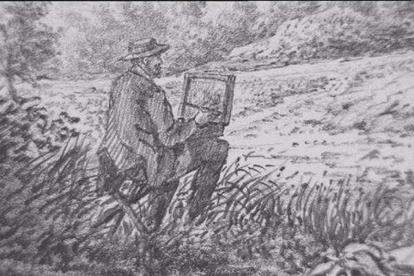 Un avocat aux champs, crayon sous le bras en 1850 dans la Manche.