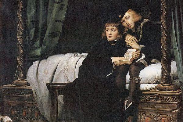 Edouard V et son frère Richard, peints en 1831 par Paul Delaroche.