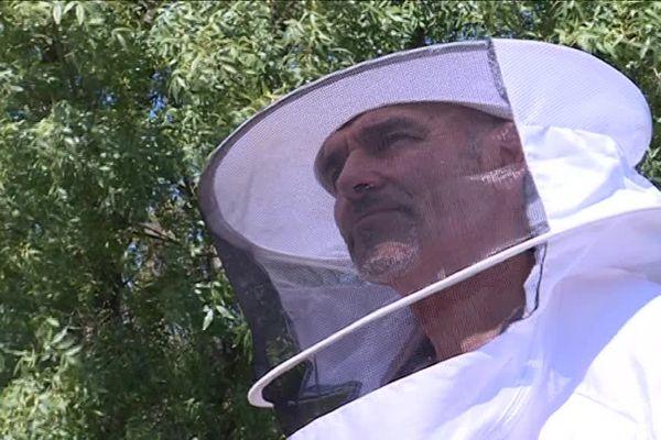 Christophe Jourdan apiculteur à Auriol