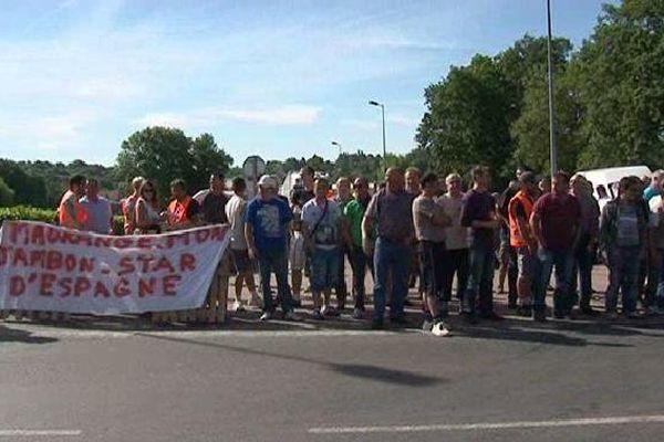 Les salariés d'ABS, sous-traitant de Madrange, sont en grève.