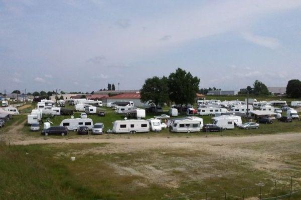 Le terrain à Saint-Junien actuellement occupé par les forains