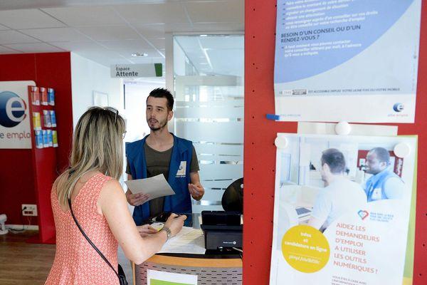 Une agence de Pôle emploi à Rennes, en juin 2019.