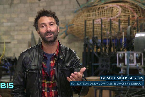 """Benoit Mousseron, fondateur de la Compagnie """"L'Homme Debout"""""""