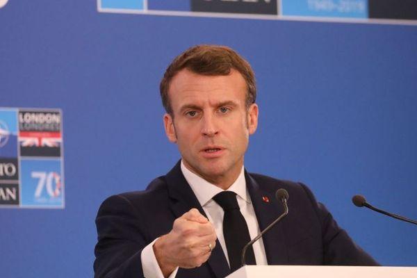 Emmanuel Macron au sommet de l'Otan ce mercredi 4 décembre.
