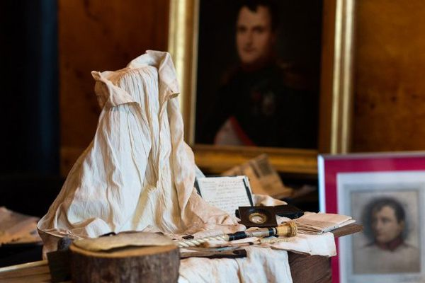 Des effets personnels de Napoléon photographiés le 29 janvier 2014