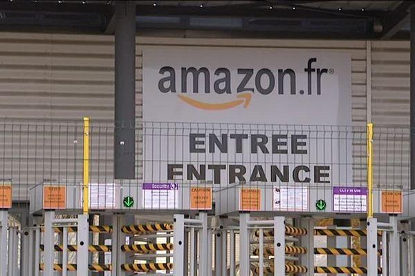 Le site Amazon à Sevrey, en Saône-et-Loire