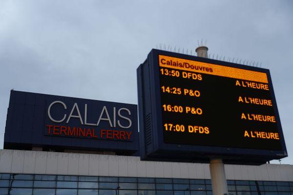 Le terminal de Calais, ce vendredi 1er janvier 2021.