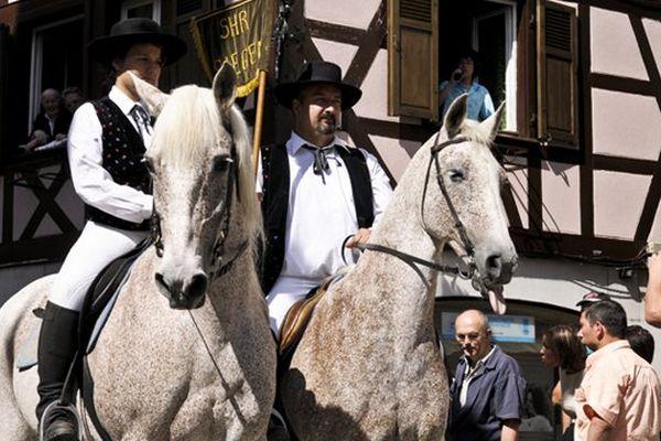 Wissembourg, le cheval à la fête