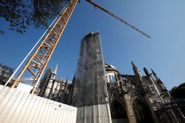 La cathédrale Notre-Dame de Paris en avril 2021.