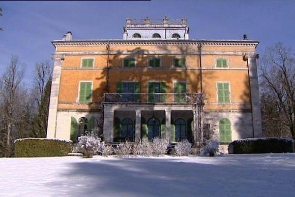 La villa palladienne à Syam dans un écrin de neige
