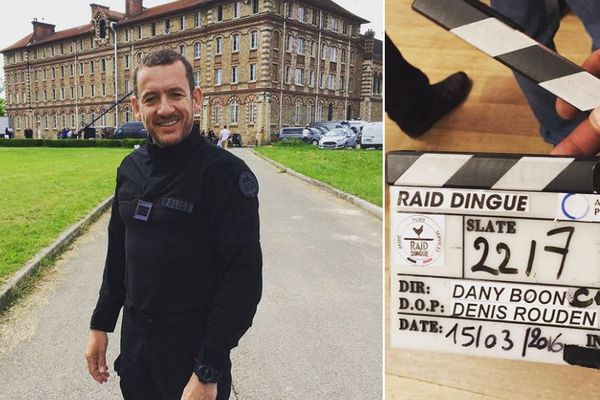 """Dany Boon pendant le tournage du film """"Raid dingue""""."""