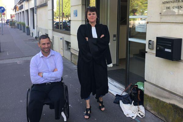 Christophe Caron et son conseil Me Nathalie Rivière