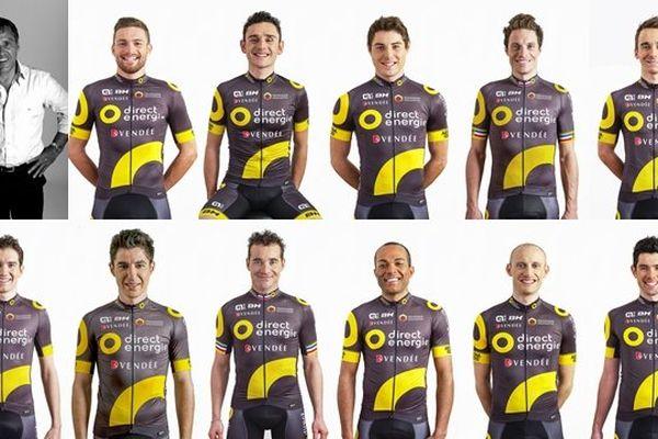 La team Direct Energie et son directeur sportif Jean-René Bernaudeau