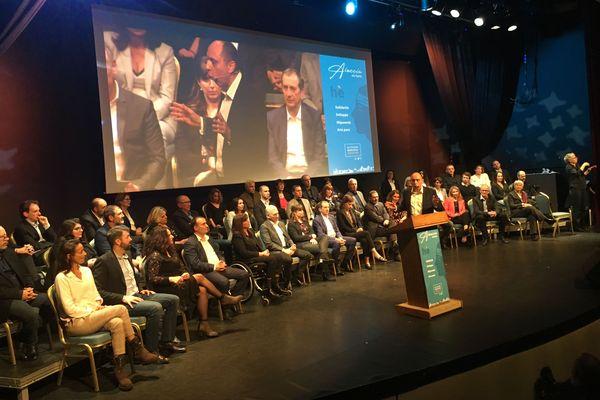 Jean-André Miniconi lors de la présentation de ses co-listiers,