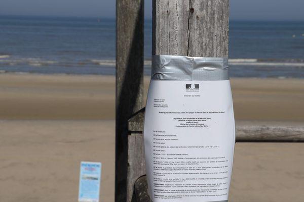 Les plages sont fermées pendant le confinement.