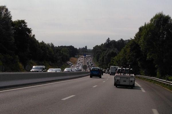 Sur l'A20 le trafic est dense