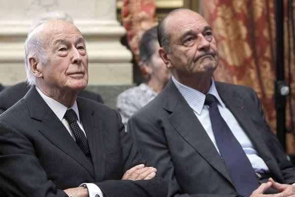 Valéry Giscard d'Estaing et Jacques Chirac, réunis ici en 2010 au Conseil constitutionnel, ont été d'éternels rivaux.