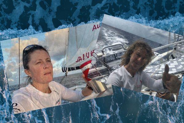 Sam Davies et Isabelle Joschke ont décidé de faire route ensemble pour leur retour hors course.