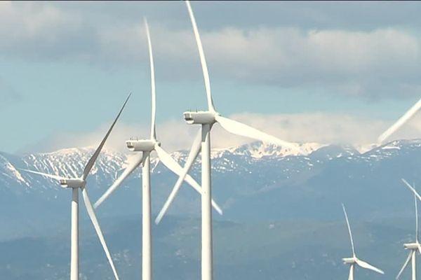 Aujourd'hui, en pays catalan, on compte près d'une cinquantaine de turbines et 92 sont encore programmées dans des projets - mai 2019