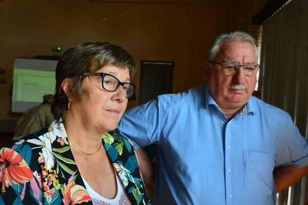 Les deux co-présidents de l'instance de co-construction du projet de territoire de la Vallée du Tescou : Maryline Lherm (Maire de Lisle sur Tarn)et Bernard Pezous (Maire de La Salvetat Belmontet).