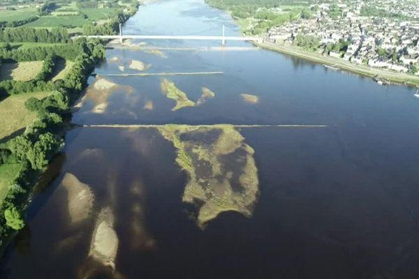 La Loire à hauteur de la ville d'Ancenis (Loire-Atlantique)