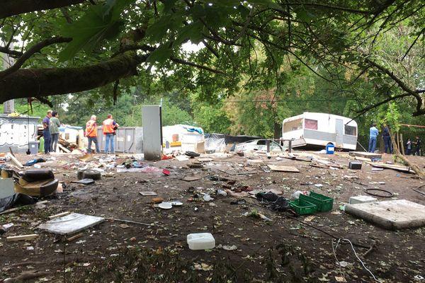 Selon les autorités, le camp présentait notamment un danger pour la sécurité routière.
