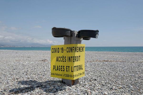 Les plages de la Côte d'Azur sont interdites d'accès depuis le 22 mars.