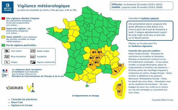 la Loire placée en vigilance orange neige et verglas lundi 29 octobre