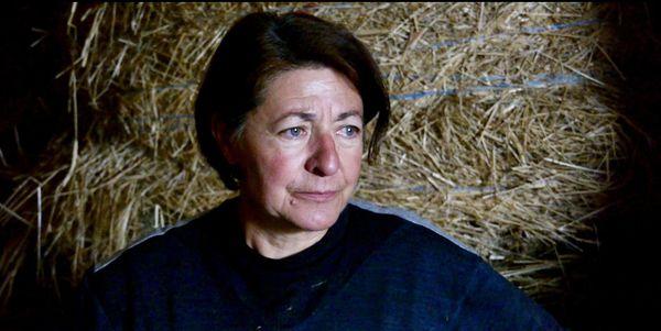 Sylvaine Charuel, à l'heure du départ de ses dernières vaches.
