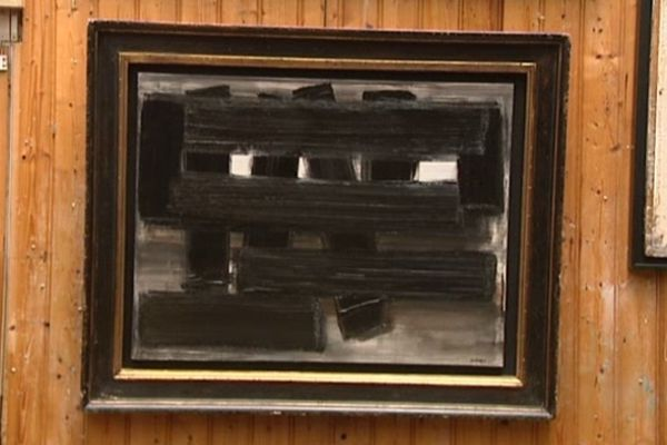 Huile sur toile de Pierre Soulages. 1955. Vendue 450 000 euros.