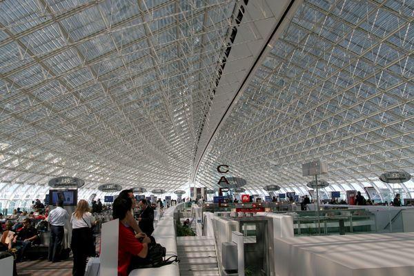 Le terminal 2F, à l'aéroport de Roissy.