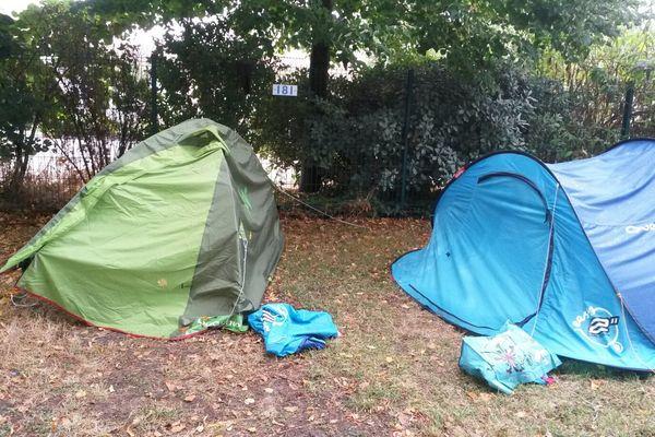 Une des zones du camping rochelais évacuée.