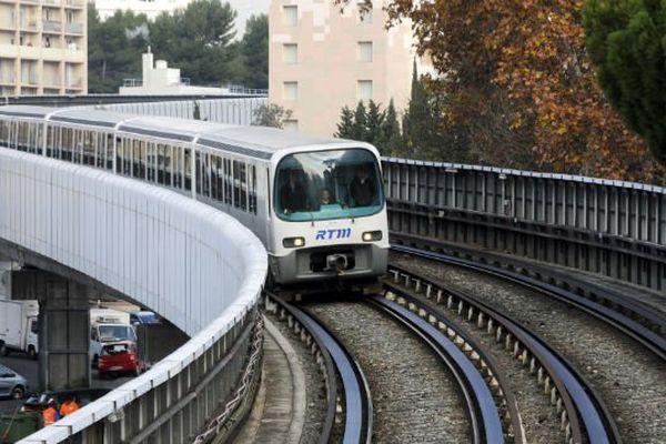 Une rame du métro marseillais.