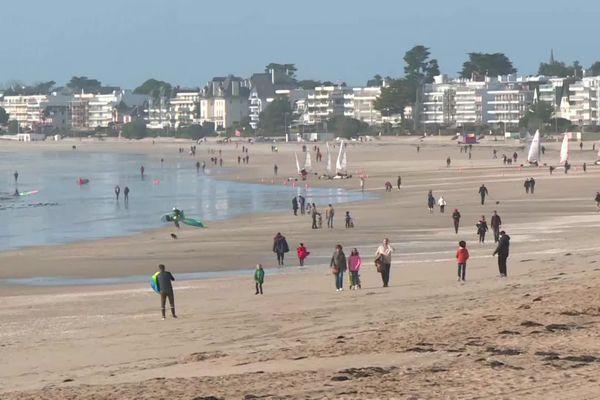 La grande plage de La Baule, à la veille du reconfinement, le 29 octobre 2020