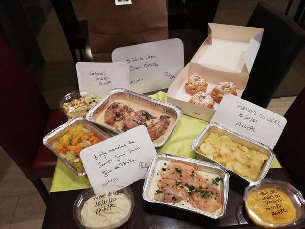 La commande de Philippe préparée par Daniel Vioix, restaurant gastronomique Ô des Lys à Troyes