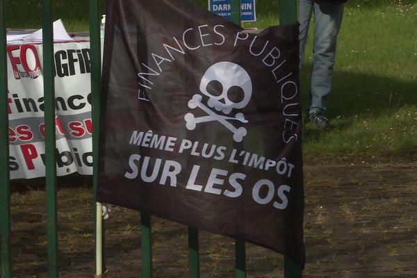 10 mai 2021- Mobilisation des agents des Finances publiques à Louviers (Eure)