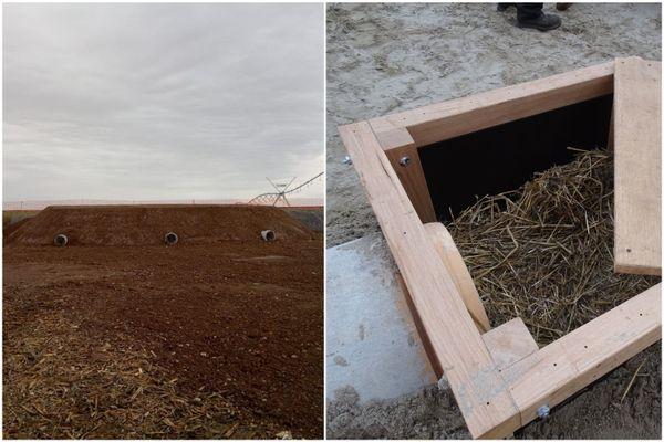 Tout de béton (et un peu de bois), le nouveau terrier jouxte la voie ferrée sous laquelle s'est installée une famille de blaireaux. La SNCF et la LPO espèrent que les mammifères vont déménager.
