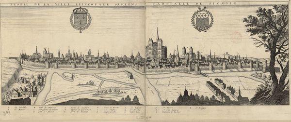 Profil de la ville épiscopale d'Amiens capitale de la Picardie, 17e siècle.