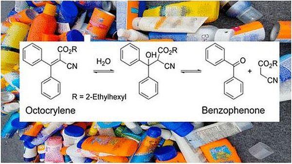 Avec le temps, l'octocrylène, un filtre qui protège du soleil se transforme en benzophénone, un perturbateur endocrinien qui peut passer à travers la peau.