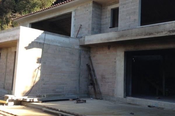 L'une des deux villas en construction visées par un attentat à Palombaggia (Corse-du-Sud)
