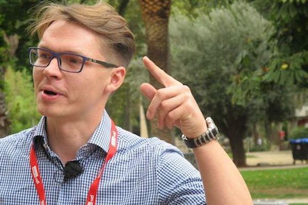 Sergey Ponomarev à Perpignan lors du festival Visa pour l'image le 2 septembre 2015