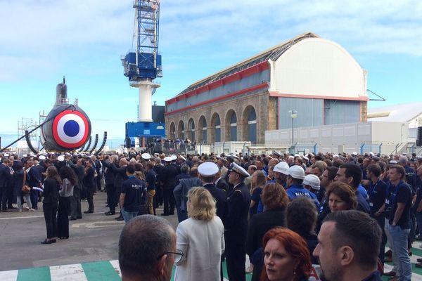 Les salariés de Naval Group attendent le geste inaugural