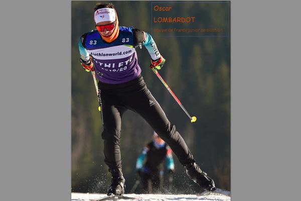 Oscar Lombardot sur les skis.