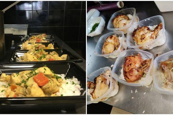 Les plats à emporter offerts par le Metsens aux étudiants