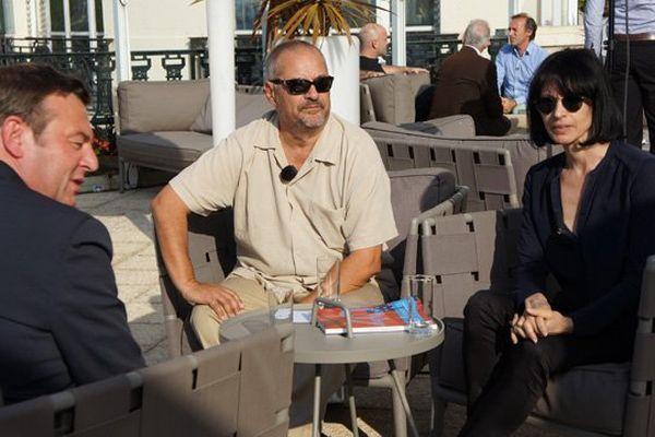 la chorégraphe Marie-Claude Petragalla et le réalisateur Jean-Pierre Jeunet, deux membres du jury sur le plateau de LOCB