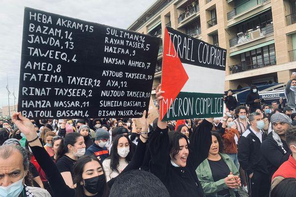 Ce samedi 15 mai, 1000 personnes se sont rassemblées à Marseille pour soutenir les palestiniens