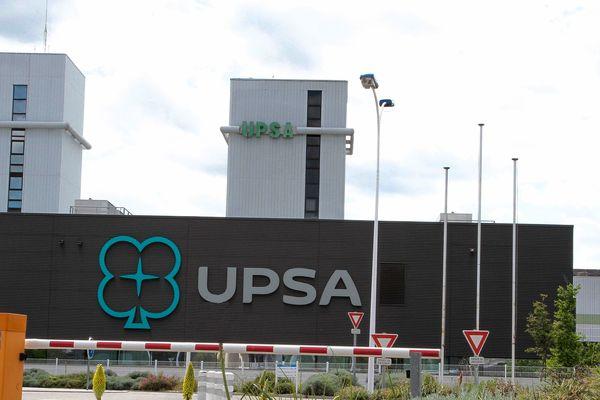L'usine UPSA d'Agen. L'entreprise pharmaceutique est né à Agen en Lot-et-Garonne.