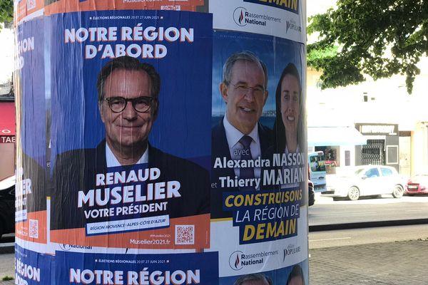 Renaud Muselier (LR) et Thierry Mariani (RN) s'affrontent aux élections régionales 2021.