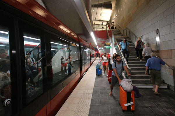 Inauguration des 2 premières stations souterraines de la ligne 2 du tramway à Nice