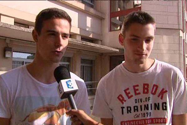 Louis Asselin (à gauche) et Lucas Dalier, élève en Terminale S à la cité Scolaire Chopin de Nancy (54)